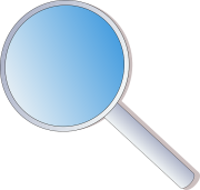 magnifying lens icon