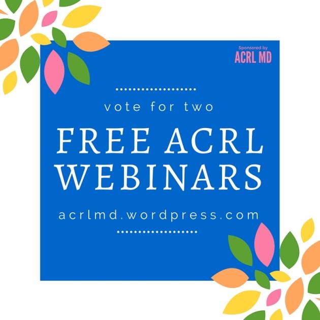 Free ACRL Webinars